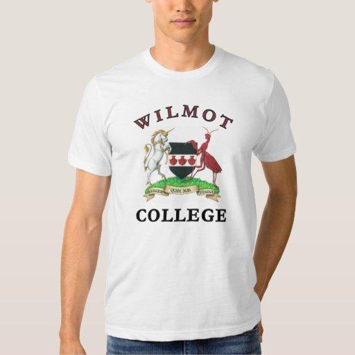 Camiseta de la universidad de Wilmot Remeras