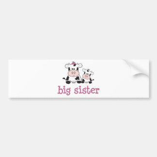 Camiseta de la vaca de la hermana grande pegatina de parachoque