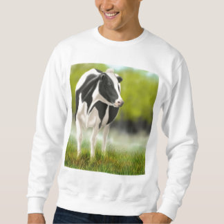 Camiseta de la vaca de leche de Holstein Pulovers Sudaderas