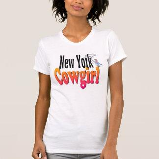 Camiseta de la vaquera de Nueva York