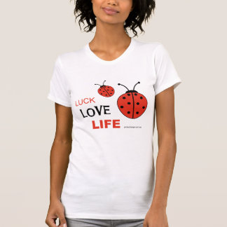 Camiseta de la vida del amor de la suerte
