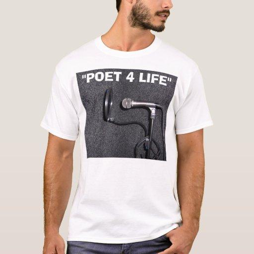 """""""Camiseta de la VIDA del POETA 4"""" Playera"""