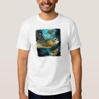 Camiseta de la vida marina de la tortuga de mar playera