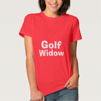 camiseta de la viuda de golf camisas