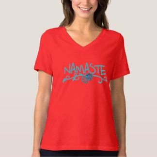 Camiseta de la yoga de Namaste para las mujeres Playera