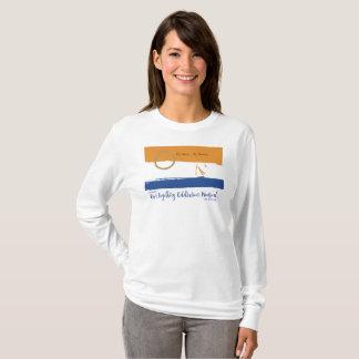 Camiseta de largo envuelta 2016 del fin de semana polera