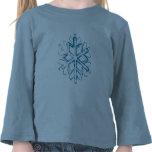 Camiseta de largo envuelta azul del copo de nieve