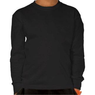 Camiseta de largo envuelta redonda del negro del