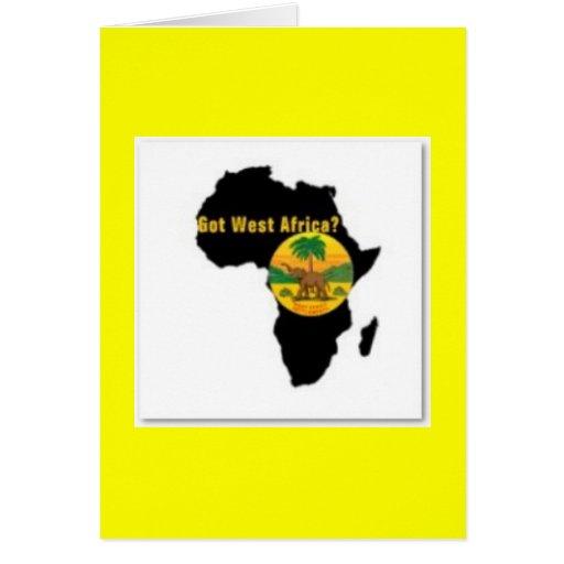 Camiseta   de las Áfricas occidentales y etc Tarjeta
