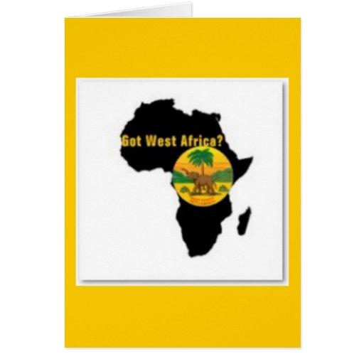 Camiseta   de las Áfricas occidentales y etc Tarjeta De Felicitación