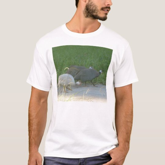 Camiseta de las aves de Guinea