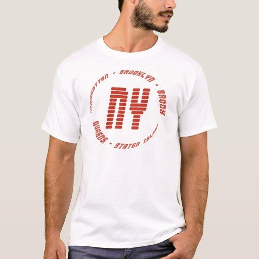 Camiseta de las ciudades de Nueva York