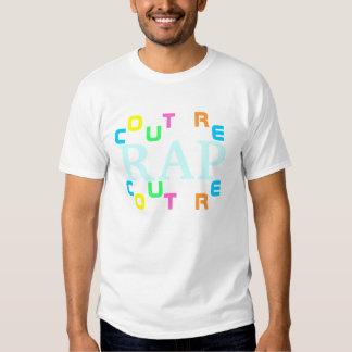 Camiseta de las costuras del rap del despegue en polera