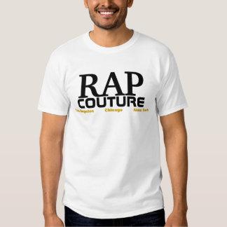 Camiseta de las costuras del rap playera