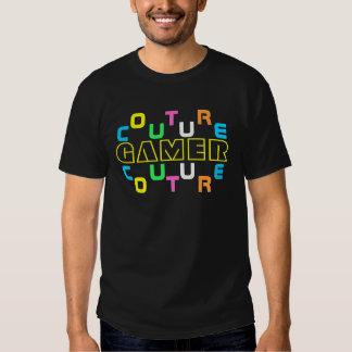 Camiseta de las costuras del videojugador