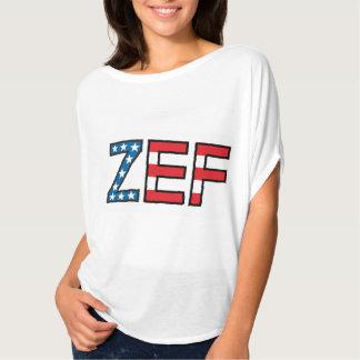 Camiseta de las estrellas de ZEF y de las mujeres Poleras