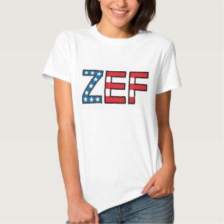 Camiseta de las estrellas y de las rayas de Zef Poleras