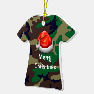Camiseta de las Felices Navidad del camuflaje del Ornamente De Reyes