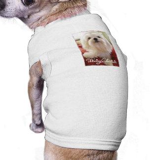Camiseta de las Felices Navidad Camiseta De Perrito