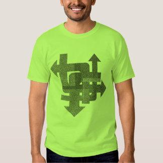 Camiseta de las flechas del Grunge Poleras