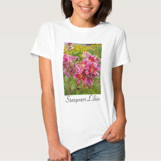 Camiseta de las flores de los lirios del Stargazer Remera