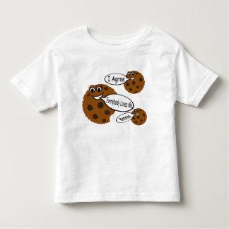 Camiseta de las galletas de microprocesador de