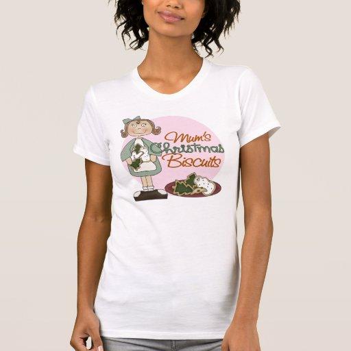 Camiseta de las galletas del navidad de la momia