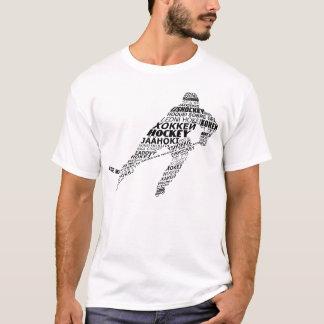Camiseta de las idiomas del hockey de la