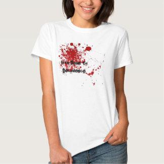 Camiseta de las letras poleras