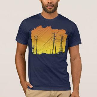 Camiseta de las líneas eléctricas