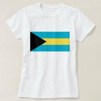 Camiseta de las mujeres con la bandera de Bahamas