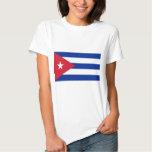 Camiseta de las mujeres con la bandera de Cuba Camisas