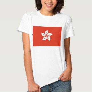 Camiseta de las mujeres con la bandera de Hong Playera