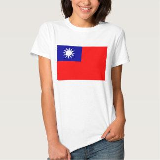 Camiseta de las mujeres con la bandera de Taiwán Poleras