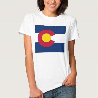 Camiseta de las mujeres con la bandera del estado camisas