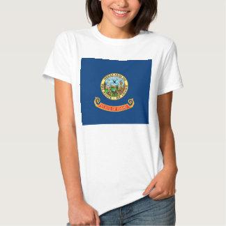 Camiseta de las mujeres con la bandera del estado poleras