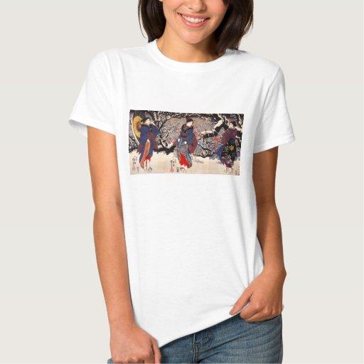 Camiseta de las mujeres de Kuniyoshi tres