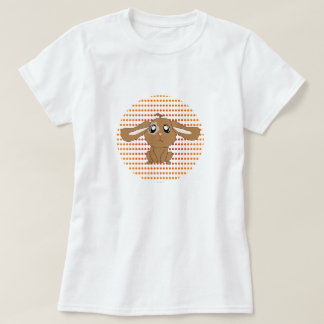 Camiseta de las mujeres del conejo de Brown