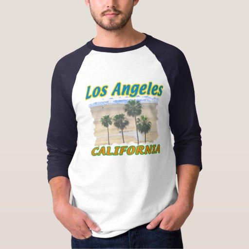 Camiseta de las palmeras de Los Ángeles California Camisas