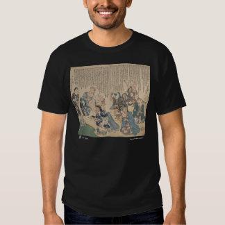 camiseta de las partes del cuerpo, negra remeras