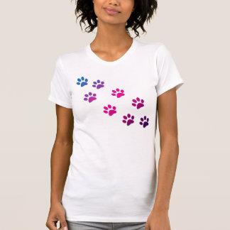 Camiseta de las patas del gato