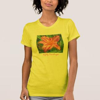 """Camiseta de las """"rayas rosadas"""" del Daylily"""