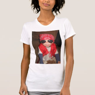 Camiseta de las señoras con imagen de encargo playeras
