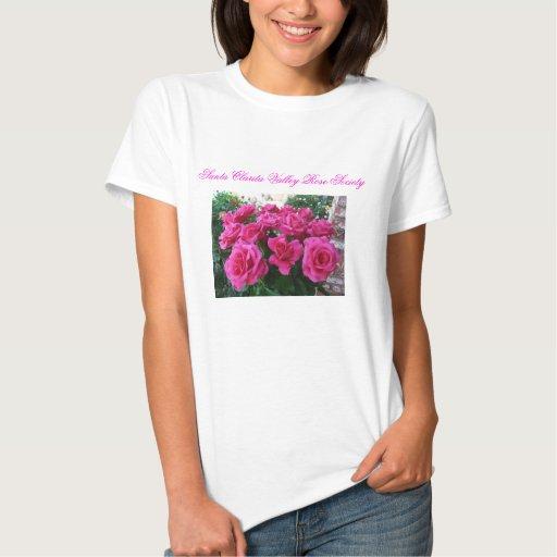Camiseta de las señoras con los rosas rosados camisas