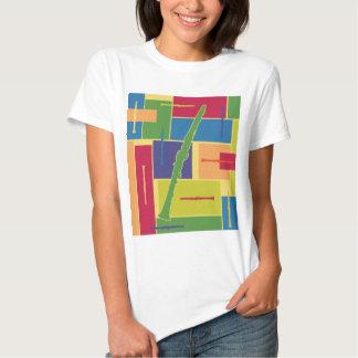 Camiseta de las señoras de Colorblocks del Playeras