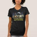 Camiseta de las señoras de Halloween del caballo