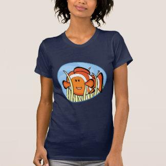 Camiseta de las señoras de Kawaii Clownfish