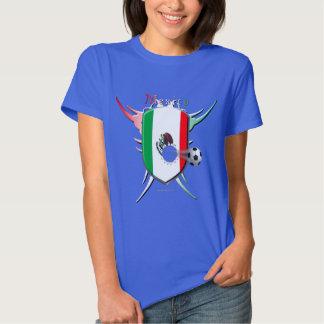 Camiseta de las señoras de la brecha del fútbol de poleras