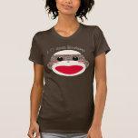 Camiseta de las señoras de la cara del mono del ca