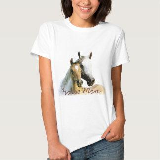 Camiseta de las señoras de la mamá del caballo playera